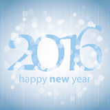 Best Wishes - Blue Abstract Modern Style Happy New Year Greeting Card, Cover or Background, Creative Design Template - 2016 Stock Photography