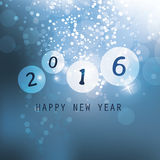 Best Wishes - Blue Abstract Modern Style Happy New Year Greeting Card, Cover or Background, Creative Design Template - 2016 Stock Image