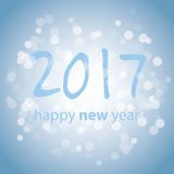 Best Wishes - Blue Abstract Modern Style Happy New Year Greeting Card, Cover or Background, Creative Design Template - 2017 Stock Photo