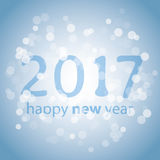 Best Wishes - Blue Abstract Modern Style Happy New Year Greeting Card Royalty Free Stock Photos