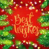 Best Wishes card with holidays frame Royalty Free Stock Photos
