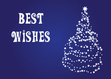 Best wishes, christmas vector card Stock Photos