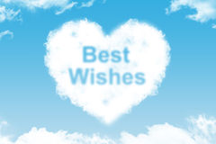 Best Wishes - cloud word Royalty Free Stock Photos