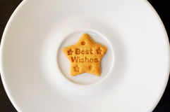 Best Wishes Cookie Royalty Free Stock Photography