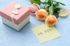 Best Wishes For Teacher`s Day Stock Photography
