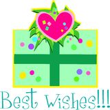 Best Wishes Gift. Here is a decorative Gift with a Best Wishes message Stock Photos