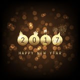 Best Wishes - Gold Abstract Modern Style Happy New Year Greeting Card Royalty Free Stock Photography