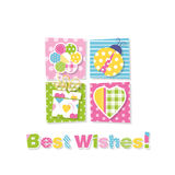 Best wishes greeting card Royalty Free Stock Photo