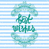 Best wishes greeting card. Stock Images