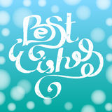 Best wishes. Hand drawn lettering quote. Typography design element template. Vector illustration Royalty Free Stock Images