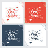 Best wishes hand lettering, handmade calligraphy. Stock Images