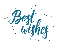 Best wishes lettering Royalty Free Stock Photos