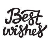 Best wishes lettering typography vector design Stock Images
