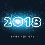 Best Wishes - New Year Card, Cover or Background Template - 2018 Royalty Free Stock Image