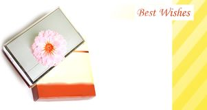 Best wishes note with gift Royalty Free Stock Images