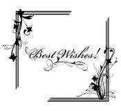 Best Wishes postcard Royalty Free Stock Photography