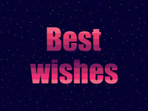 Best wishes in 80`s retro style. Text in the futuristic style, neon. Vector Royalty Free Stock Photo