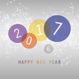 Best Wishes - Simple Colorful Abstract Modern Style Happy New Year Greeting Card, Cover or Background, Creative Design Template - Stock Photography