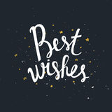 Best Wishes - unique handdrawn typography poster. Royalty Free Stock Image