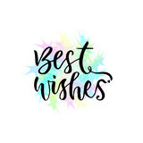 Best wishes vector greeting card with hand lettering. Modern vector calligraphy.  Stock Photography