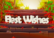 Best Wishes wallpaper background Royalty Free Stock Photo