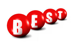 Best Word Made Of 3D Spheres Royalty Free Stock Photos