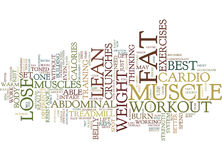 Best Workout To Lose Abdominal Fat Word Cloud Concept Stock Images