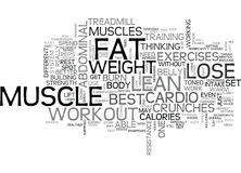 Best Workout To Lose Abdominal Fatword Cloud Royalty Free Stock Photo