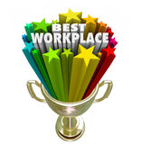 Best Workplace Employer Business Company Job Career Trophy Fotografie Stock Libere da Diritti