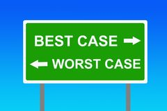Best worst case scenario. Having to choose between best case and worst scenario Stock Photography