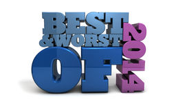 Best and Worst of 2014 Royalty Free Stock Image