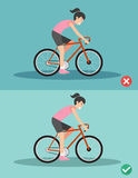 Best and worst positions for riding bike Royalty Free Stock Images
