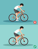 Best and worst positions for riding bike Stock Photo