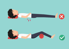 Best and worst positions for sleeping, illustration, Stock Photography