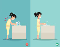 Best and worst positions for standing, illustration, Stock Photography
