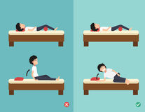 Best and worst positions for wake up Royalty Free Stock Images