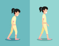 Best and worst positions for walk Royalty Free Stock Photo