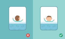 Best and worst sleeping positions,vector Royalty Free Stock Image