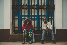 The best years behind. Havana, Cuba. stock photography
