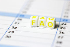 Bestanden aus Weiß berechnet FAQ Lizenzfreie Stockbilder