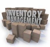 Bestandsmanagement fasst logistische Versorgungskette-Schaltkästen P ab lizenzfreie abbildung