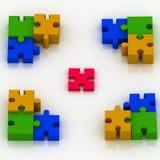 Bestandteil des Puzzlespiels Stockbild