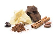 Bestandteile für Ñ-, das selbst gemachte Schokolade ooking ist Stockbild