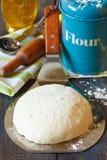 Bestandteile für das Brotkochen. Stockbild