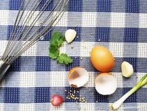 Bestandteile für das Kochen stockbild