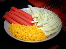Bestandteile für den Salat Stockfotografie