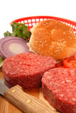 Bestandteile für die Herstellung der Hamburger Lizenzfreie Stockbilder