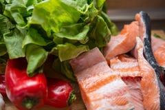 Bestandteile für eine gesunde Mahlzeit Lizenzfreie Stockfotos