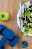 Bestandteile für einen gesunden Lebensstil Stockbilder