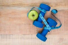 Bestandteile für einen gesunden Lebensstil Stockbild